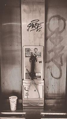 Pay Phone Art Print by Erin Cadigan