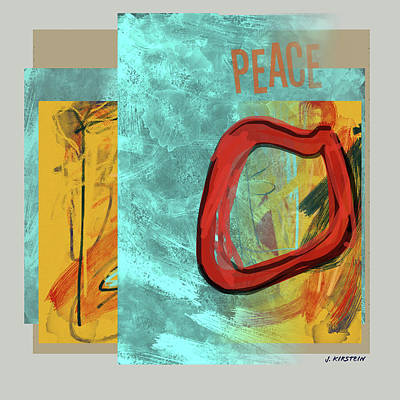 Jolly Old Saint Nick - Peace by Janis Kirstein