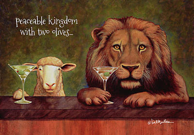 Painting - Peaceable Kingdom With 2 Olives... by Will Bullas
