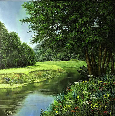 Painting - Peaceful River by Roena King