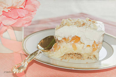 Photograph - Peach Dessert by Pamela Williams