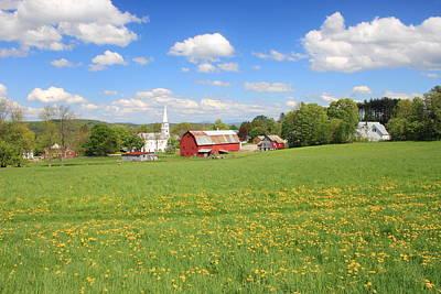 Photograph - Peacham Vermont Spring Afternoon by John Burk