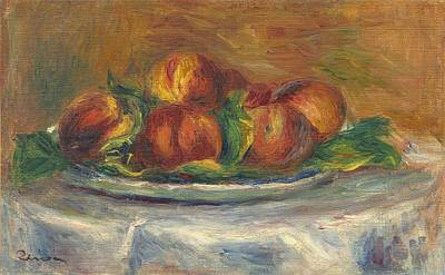 Painting - Peaches On A Plate by Auguste Renoir