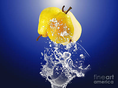 Pear Splash Collection Art Print by Marvin Blaine