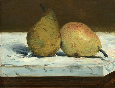 Painting - Pears by Edouard Manet