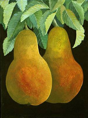 Pears Painting - Pears by Jennifer Abbot