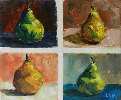 Painting - Pears by Ningning Li