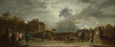 Digital Art - Peasants At Archery by David Teniers the Younger