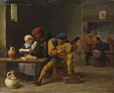 Digital Art - Peasants Making Music In An Inn by David Teniers the Younger