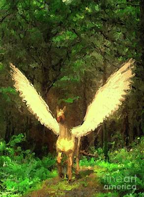 Fantasy Royalty-Free and Rights-Managed Images - Pegasus Comes by Esoterica Art Agency