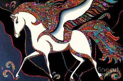 Pegasus Drawing - Pegasus by Rebeca Rambal