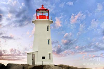 Photograph - Peggys Cove Lighthouse by Elaine Manley