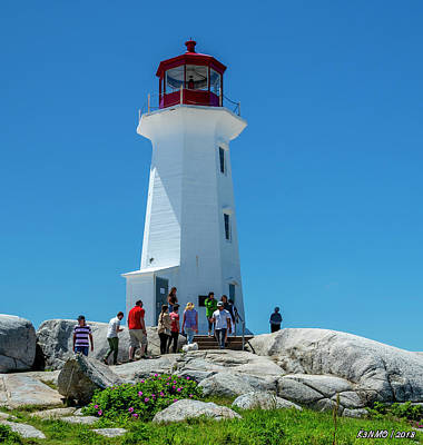 Digital Art - Peggys Cove Lighthouse by Ken Morris