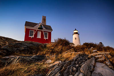 Print featuring the photograph Pemaquid Sky by Robert Clifford