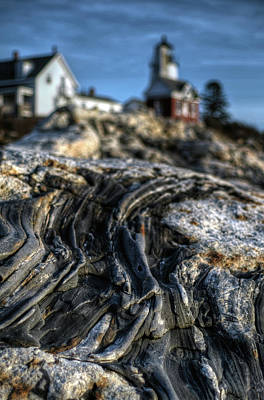 Photograph - Pemaquid Strata by Patrick Groleau