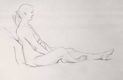Drawing - Pencil Sketch 11.2010 by Mira Cooke