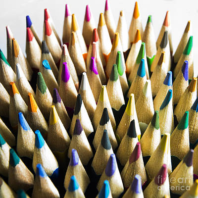 Part Of Photograph - Pencils by Bernard Jaubert