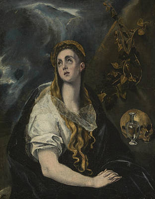 Painting - Penitent Magdalene by El Greco