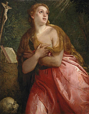 Mary Magdalene Painting - Penitent Mary Magdalene by Paolo Veronese