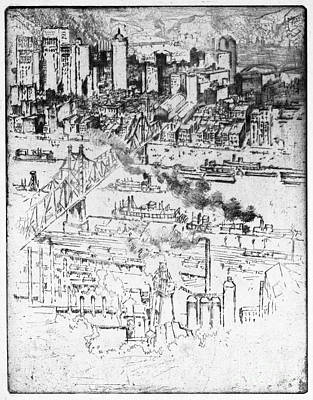 Drawing - Pennell Pittsburgh, 1909 by Granger