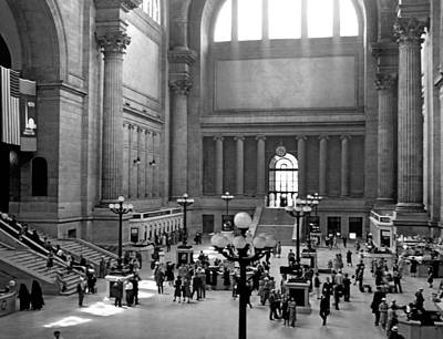 Photograph - Pennsylvania Station Interior by Underwood Archives
