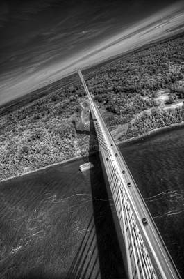 Digital Art - Penobscot Narrows Bridge by Patrick Groleau