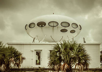 Photograph - Pensacola Beach Ufo House by Debra Forand