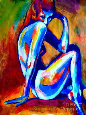 Painting - Pensive Lady by Helena Wierzbicki