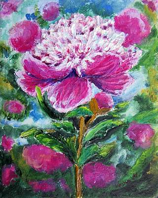 Mixed Media - Pink Peony by Vesna Martinjak