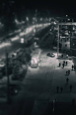 People At Night From Arerial View Art Print