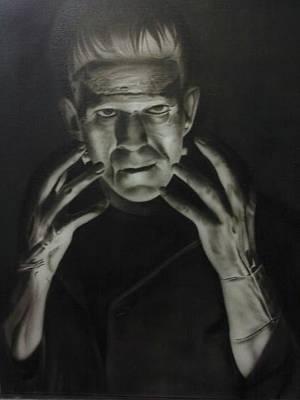 Painting - People- Frankenstein's Monster by Shawn Palek