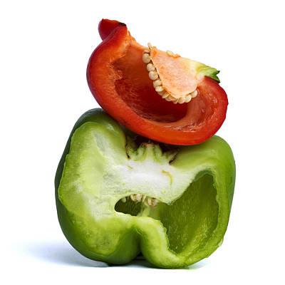 Peppers Art Print by Bernard Jaubert