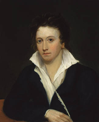 Percy Painting - Percy Bysshe Shelley by MotionAge Designs
