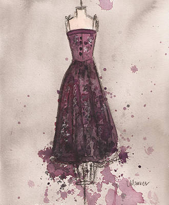 Painting - Perfectly Plumb Dress by Lauren Maurer