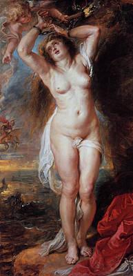 Saving Painting - Perseus Freeing Andromeda by Peter Paul Rubens