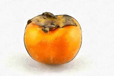 Painting - Persimmon Fruit by George Atsametakis