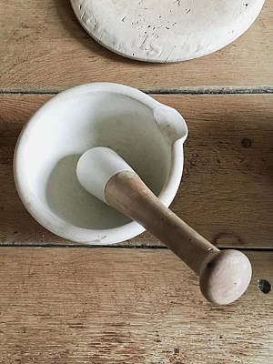 Pestle Photograph - Pestle And Mortar by Tom Gowanlock