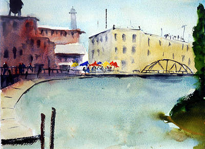 Painting - Petaluma Turning Basin by Tom Simmons