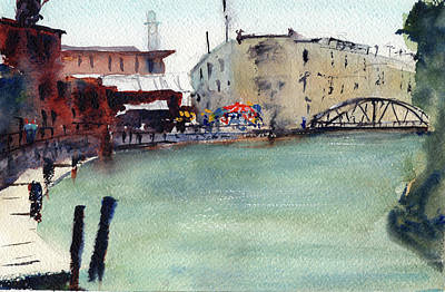 Painting - Petaluma Turning Basin1 by Tom Simmons