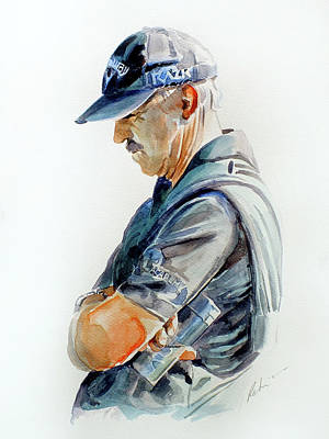 Painting - Pete Cowen by Mark Robinson