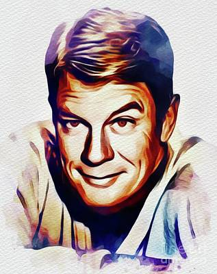 Painting - Peter Graves, Vintage Actor by John Springfield