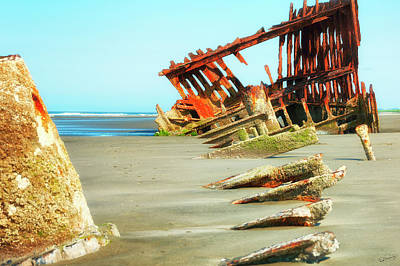 Photograph - Peter Iredale Shipwreck Viii by Dee Browning