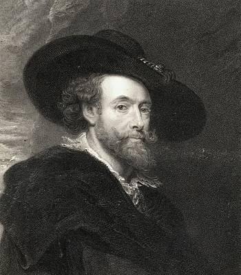 Flemish Drawing - Peter Paul Rubens 1577-1640. Flemish by Vintage Design Pics