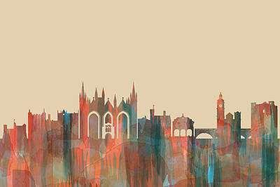 Digital Art - Peterborough England Skyline by Marlene Watson
