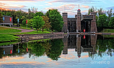 Photograph - Peterborough Lift Lock National Historic Site by Charline Xia