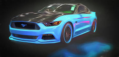 Photograph - Stylized Petty Mustang by Bill Posner