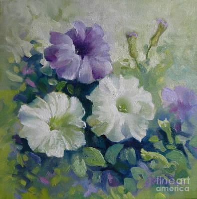 Painting - Petunias by Elena Oleniuc