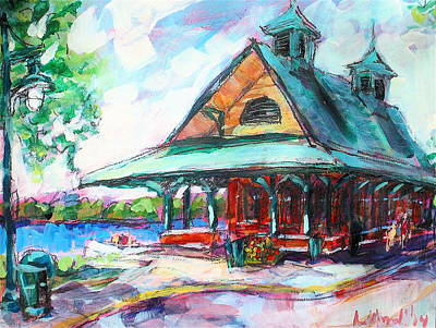 Painting - Pewaukee Depot by Les Leffingwell