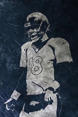 Peyton Manning Broncos Art Print by Joe Hamilton