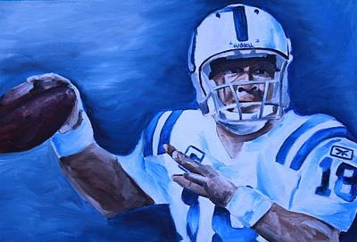Peyton Manning Painting - Peyton by Mikayla Ziegler